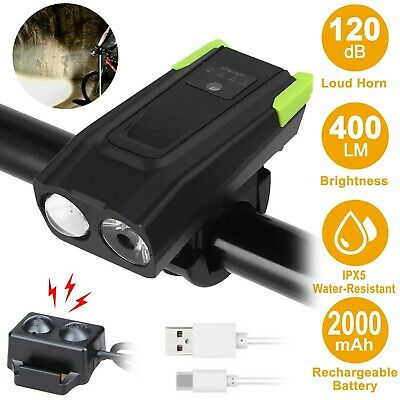 LED Bicycle Headlight USB Rechargeable Bike Head Light Cycling Front Lamp 6 Mode