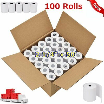 100 Roll Credit Card Register POS Thermal Receipt Paper 2 14 x 50 for iCT220