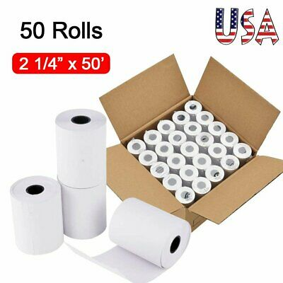 2 14 x 50 Thermal Paper Roll Credit Card POS Receipt Paper - 50 Rolls