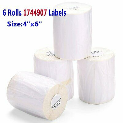 6pcs 220Roll For DYMO 4XL Direct Thermal Shipping Labels 4x6 1744907 Compatible