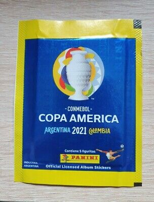 Panini 1 Tüte Copa America 2021 Argentina Colombia Bustina Pochette Packet Pack