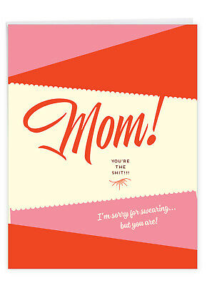 Funny Mothers Day Card 8-5 x 11 Inch - Sorry For Swearing J6944MDG