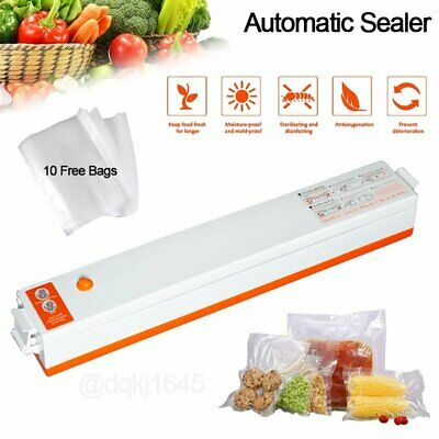 Commercial Vacuum Sealer Machine Food Saver Automatic Sealing System - 10 Bags