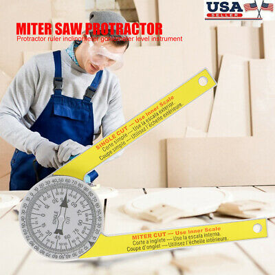 Miter Saw Protractor Dial Accurate Angle Finder with Laser-Engraved Scales Tools