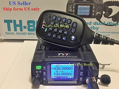 TYT TH8600 waterproof Dual Band 25W Mobile Radio Free cable-software US Seller