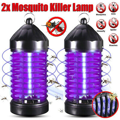 2Pack Electric UV Mosquito Killer Lamp OutdoorIndoor Fly Bug Insect Zapper Trap