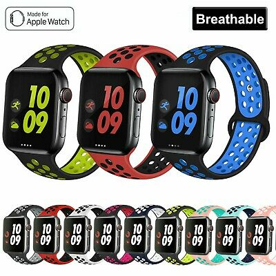 For Apple Watch Band Series 6 5 4 Se 3 2 1 Sport Silicone Strap Band Wristband