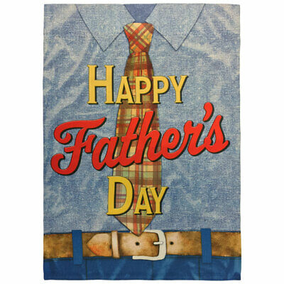 Happy Fathers Day Garden Flag 12x18in Cute Novelty Yard Flag Fathers Day