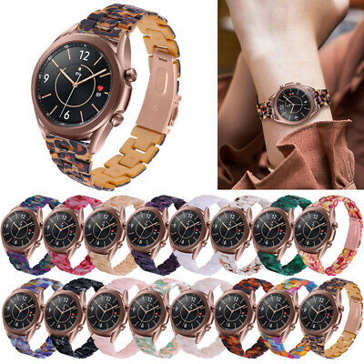 For Samsung Galaxy Watch 3 4145MM Resin Wrist Strap Stainless Steel Watch Band