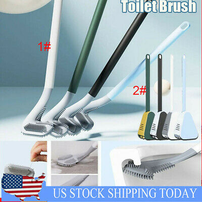 Long-Handled Golf Head Toilet Brush Wall-Mounted Bathroom Cleaner Scrubber US