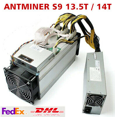 BTC BCH Bitcoin AntMiner S9 13-5T  S9 14T With 1600W PSU Miner Power Supply
