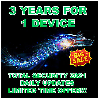 BitDefender Total Security 2021 - 3 Years 1 Device Activation - Genuine - Global