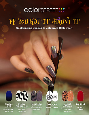 COLOR STREET Nail Strips Halloween Collection 2021 Free Tracked Shipping on 4-