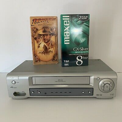 Magnavox 4-Head VCR MVR430 - Works Great Plus 2 VHS Tapes - Manual - No Remote