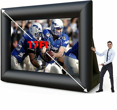 17 Ft Inflatable Movie Screen W Blower For Outdoor Garden Party Rear Projection
