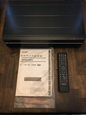 Toshiba DVR620KU Combo VHS VCR DVD Video Recorder W Remote HDMI Out and Manual