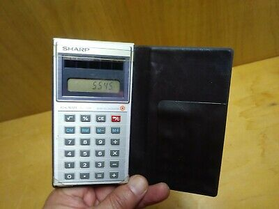 Vintage Sharp ELSI MATE EL-326 Solar Cell Calculator and Case Working Condition