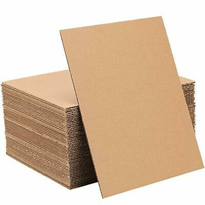 HOZEON 300 Pack Corrugated Cardboard Sheets 5 x 7 x 116 Inches Premium and Thi