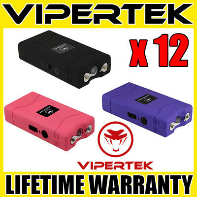 12 VIPERTEK VTS-880 Mini Stun Gun 3 Colors Mix - Wholesale Lot