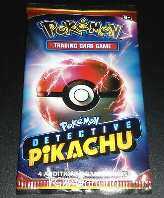 1x DETECTIVE PIKACHU Movie Booster Pack Mint Pokemon Cards