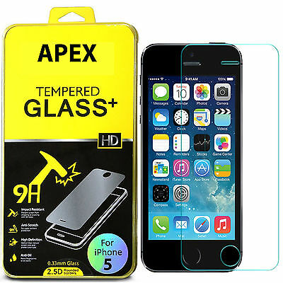 Premium Real Tempered Glass Screen Protector Film Guard for Apple iPhone 55S5C