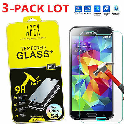 Premium Real Tempered Glass Film Screen Protector for SAMSUNG Galaxy S4 i9500