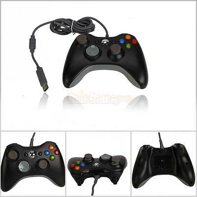 New Wired USB Game Pad Controller For Microsoft Xbox 360 Black Free Shipping