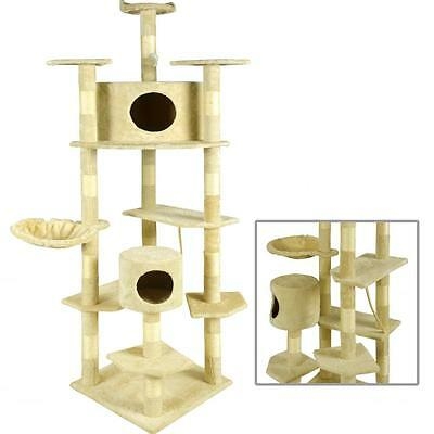New Beige 80 Cat Tree Condo Furniture Scratching Post Pet Cat Kitten House 9080