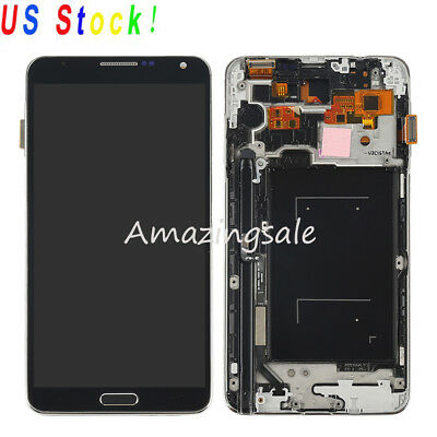 Replacement LCD Screen Touch Digitizer-Frame For Samsung Galaxy Note 3 N900A USA