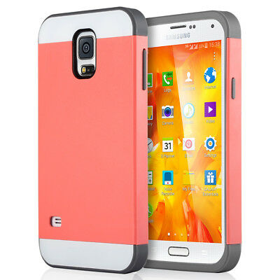 Shockproof Rugged Hybrid Rubber Hard Cover Case For Samsung Galaxy S5 i9600