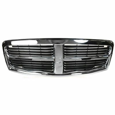 Chrome - Black Front End Grill Grille for 04-06 Dodge Durango
