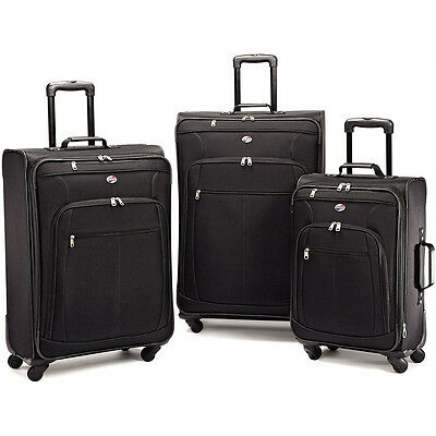 American Tourister Pop Plus 3 Piece Luggage Set 29 Inch 25 Inch 21 Inch