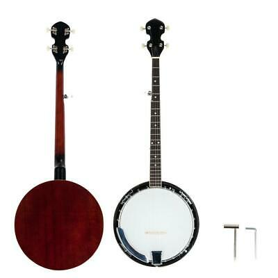 New 5 String Banjo Full Size with Closed Back 24 Brackets Head - Maple Neck