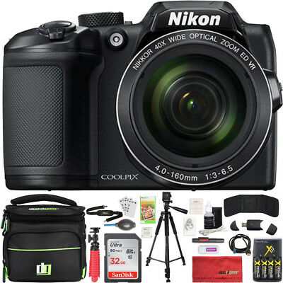 Nikon COOLPIX B500 40x Optical Zoom Digital Camera w Built-in Wi-Fi 32GB Bundle