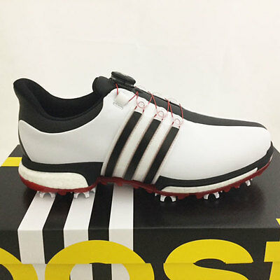 ADIDAS MENS TOUR 360 BOA BOOST GOLF SHOES SIZE 9 WHITEBLACKRED SAMPLE 17368