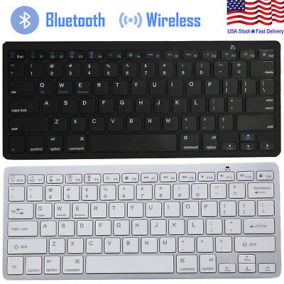 Universal Bluetooth 3-0 Slim Keyboard for Android Windows iOS Tablet PC Laptop