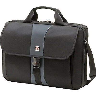 Swiss Gear Sierra Computer Slimcase Professional Laptop Bag Up to 17 BlackStee
