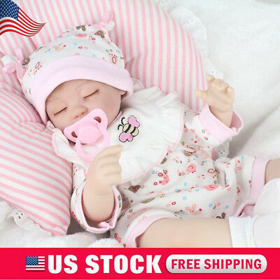 Reborn Baby Dolls Lifelike Newborn Artist Handmade 16 Sleeping Girl Doll Gifts
