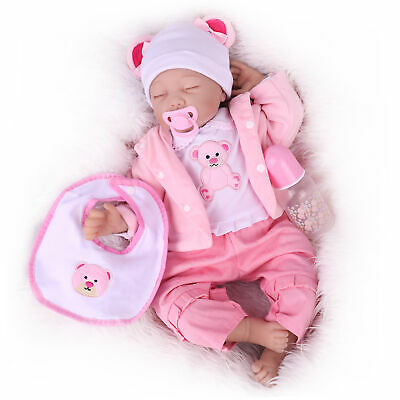 Reborn Baby Dolls 22 inch Real Life Sleeping Newborn Vinyl Silicone Toddler Doll