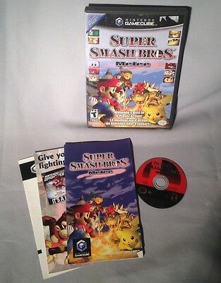 GAMECUBE Super Smash Bros Melee COMPLETE GAME CUBE WII wCANADIAN BOX
