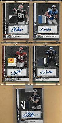 2009 Topps Finest 5 Ser d 209 Card Autograph Jersey Lot Curry Pettigrew etc