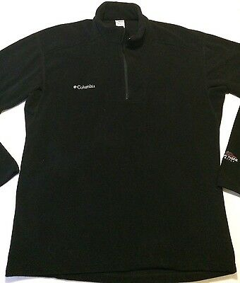 Columbia Omni Therm Mens Black Long Sleeve Pullover Shirt Size Large Adult Sz L