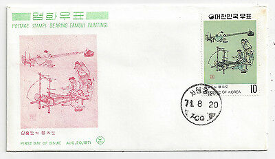 1971 First Day of Issue FDC Cover Fine Art Series Scott 793 - Insert 2 MNH
