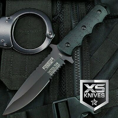 9 Navy SEALs Tactical Combat Bowie Knife wSHEATH Military Fixed Blade Survival