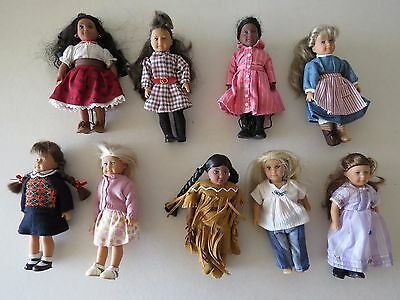 American girl mini Doll small LOT brown blonde brunette black hair eyes clothes