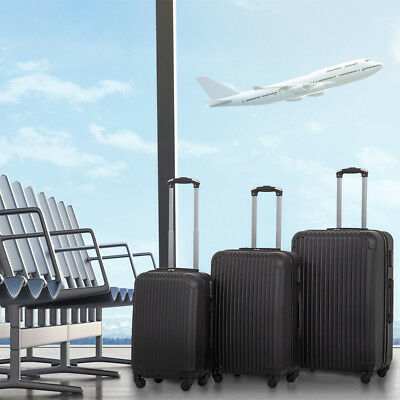 New 3 Pcs Luggage Travel Set Bag ABS Trolley Suitcase 4 Color 348