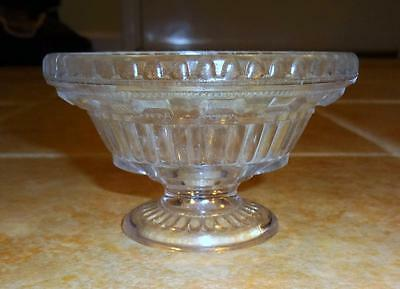 EAPG Clear Fluted 5 12 Pressed Glass Sauce Dish Small Compote EXC
