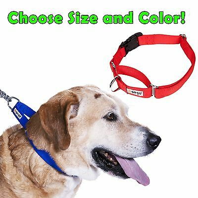 GOGO NYLON MARTINGALE DOG COLLAR - NO SLIP TRAINING CHOKE - LIFETIME WARRANTY