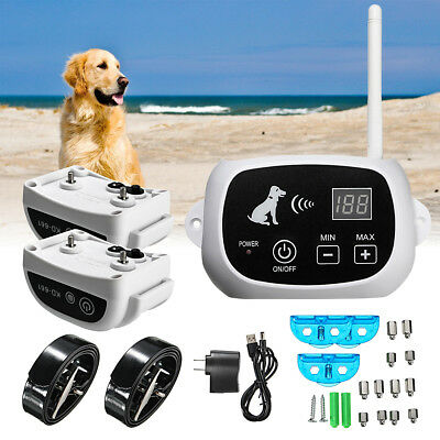 Wireless 3 Dog Fence No-Wire Waterproof Pet Containment System Rechargeable US