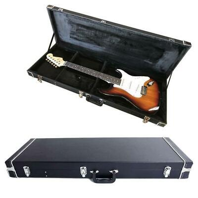 New Protable Electric Guitar Square Hard Case w Silver Hardware and Lock